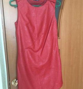 Кожаное красное платье Befree