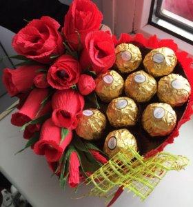 Красивые Коробочки с цветами и конфетами