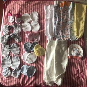 Вещи пакетом новые девочке 50-58 см