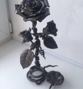 Подсвечник роза