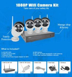 Комплект беспроводного 2Мп 1080р видеонаблюдения