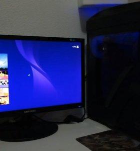 новый комплект Компьютер GTX1030 +Монитор +Колонки