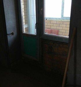 Дверь пластиковая с окном