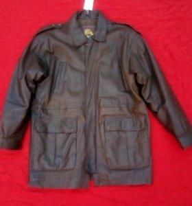 Демисезонная куртка из натуральной кожи