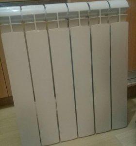 Новый алюминиевый радиатор + набор для подключения