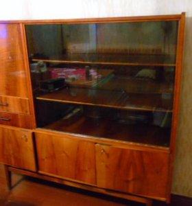 Серванты, полки , шкаф, тумбочка, диван, стол