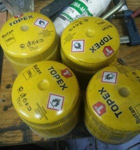 Газ для горелок topex(4шт)