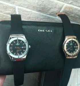 Часы и кошелек + коробка для часов в подарок