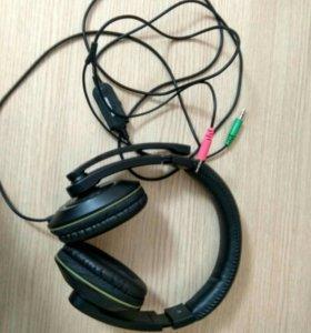 Наушники с микрофоном Defender