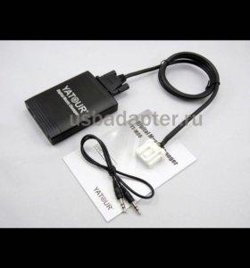 Адаптер USB и AUX под штатную магнитолу Мазда 3