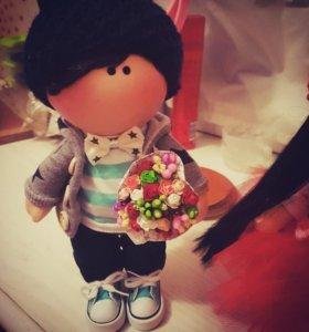 Пара интерьерных кукол handmade