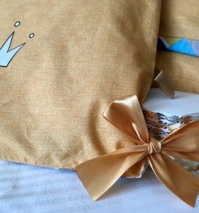 Бортики, бомбон, конверт-одеяло, постельное белье