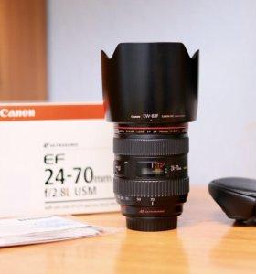 Canon 24-70mm 2.8 самый свежий экземпляр