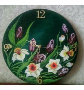 "Настенные часы "" Весна"""