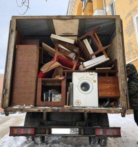 Вывоз мусора в Коломне. Газель и грузчики