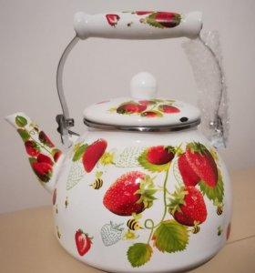 Новый эмаль чайник