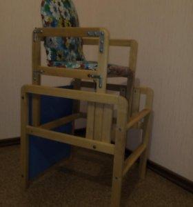 Высокий стул-трансформер(кормление, занятия, игры)