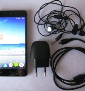 Смартфон BQ 4G на гарантии, полный комплект, чехол