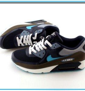 Кроссовки Air Max 90 серые с синим