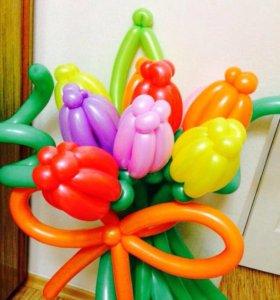 Тюльпаны 🌷 из воздушных шаров к празднику