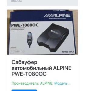 Сабвуфер активный Alpine