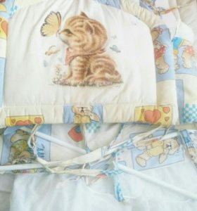 Бортики в кровать+балдахин+держатель для балдахина
