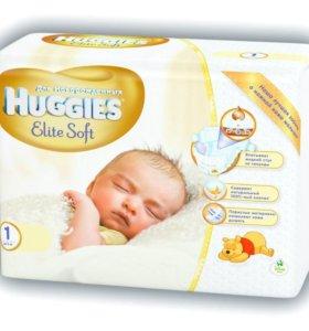 подгузники Huggies 84 шт до 5 кг