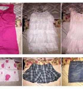 Платья и юбки по 300 рублей
