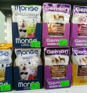 Корм ( пауч) для собак Джимон и Монже