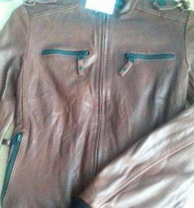 Новая натуральная турецкая кожаная куртка