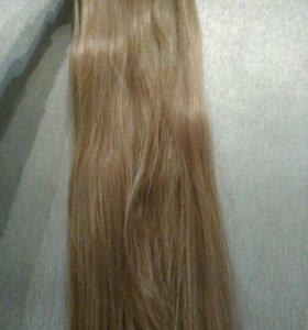 Не натуральные волосы на заколках 60 см
