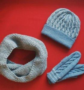 Шапки, варежки,  шарфы