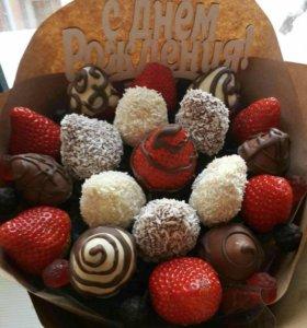 Букет Клубника в шоколаде