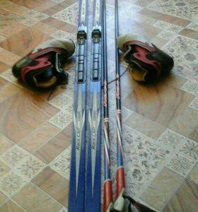 Комплект беговых лыж fisher