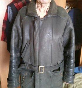 Мужская кожаная с мехом куртка