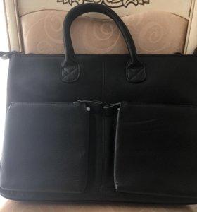 Мужская сумка из натуральной кожи новая