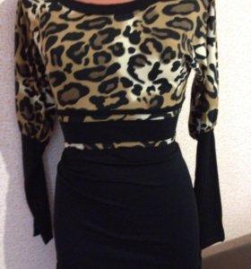 Платья леопард новые