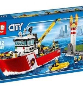 конструктор City Пожарный катер Lepin 02057