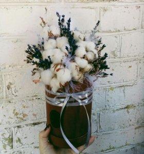 Букеты из сухоцветов, композиции