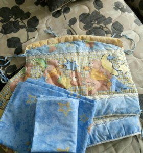 Балдахин с бортами на детскую кровать