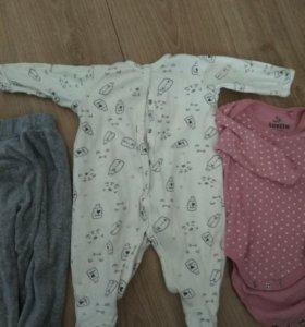 Детские вещи новорожденным,пакетом от 2х месяцев
