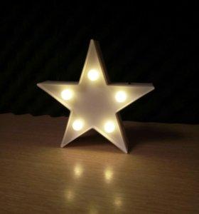 Ночник в виде звезды (новый)