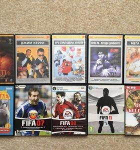 DVD-диски. Фильмы и игры.