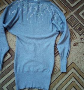 Платье,рукав летучая мышь.