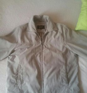 Куртка мужская легкая на подкладе, под замш