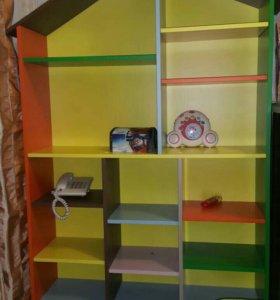 Полка-стелаж в детскую комнату