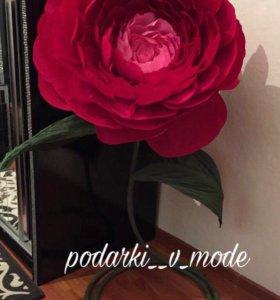 Цветы из гофрированной бумаги🌹❤️