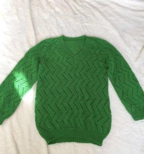вязаный свитер ручная работа