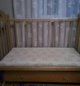 """Кроватка детская """"Наша мама"""" с матрассом"""