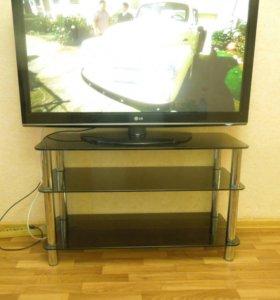 Тумба(стол) под телевизор стеклянный